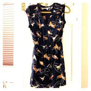 Dr2 adorable bird print dress